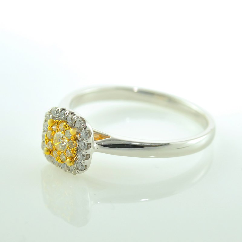 HJ Diamond Collection Cushion Shaped Halo Engagement Ring