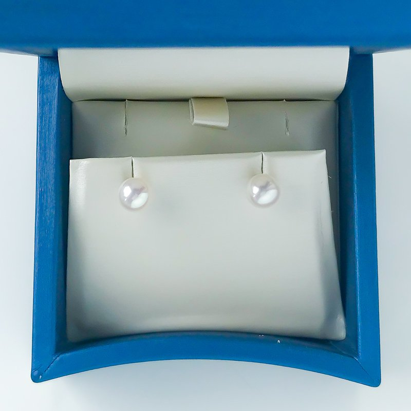 HJ Pearl Collection 14KY Freshwater Pearl Studs (6.5 - 7mm)