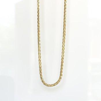 "Yellow Gold Wheat Chain (22"")"