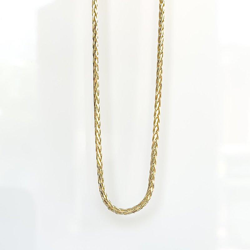 "Tecimer & Johns Yellow Gold Wheat Chain (22"")"
