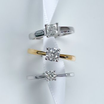 0.51CT Canadian Princess Cut Solitaire Engagement Ring
