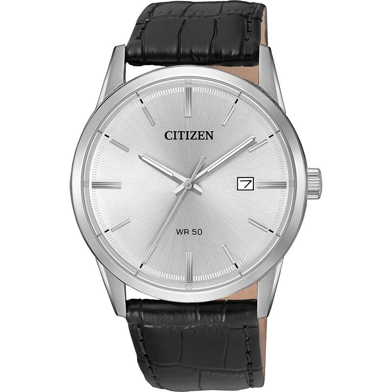 Citizen Men's Watch Black Leather