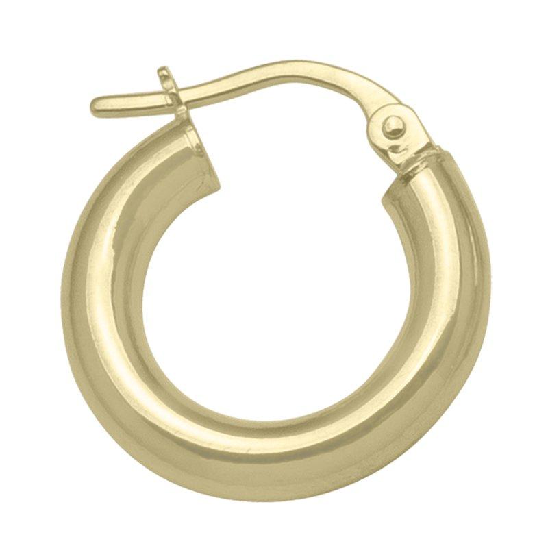 Tecimer & Johns Plain Gold Hoop Earrings