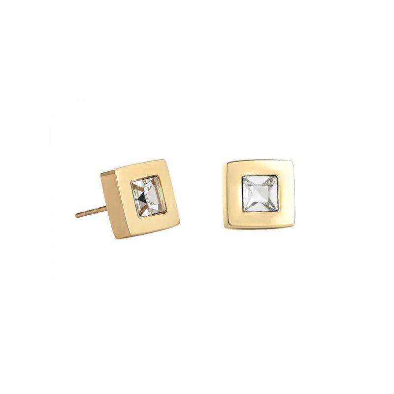 Coeur De Lion Crystal Stud Earrings