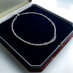 """HJ Pearl Collection Silver Three-Strand Keshii Pearl Necklace (16"""")"""