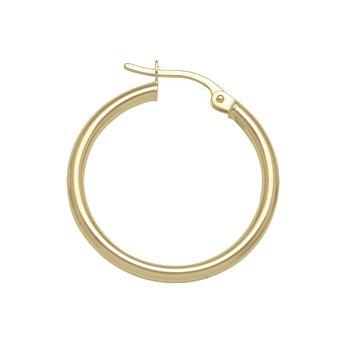 Plain Round Hoop Earrings (25mm)