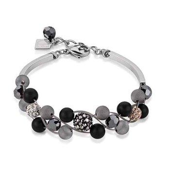 Onyx & Crystal Bracelet