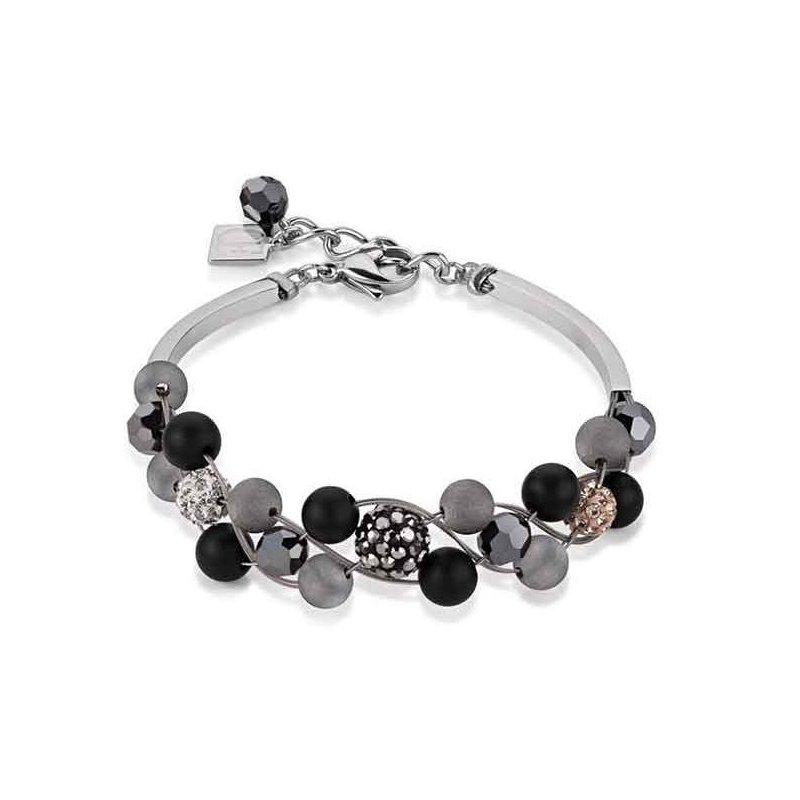 Coeur De Lion Onyx & Crystal Bracelet