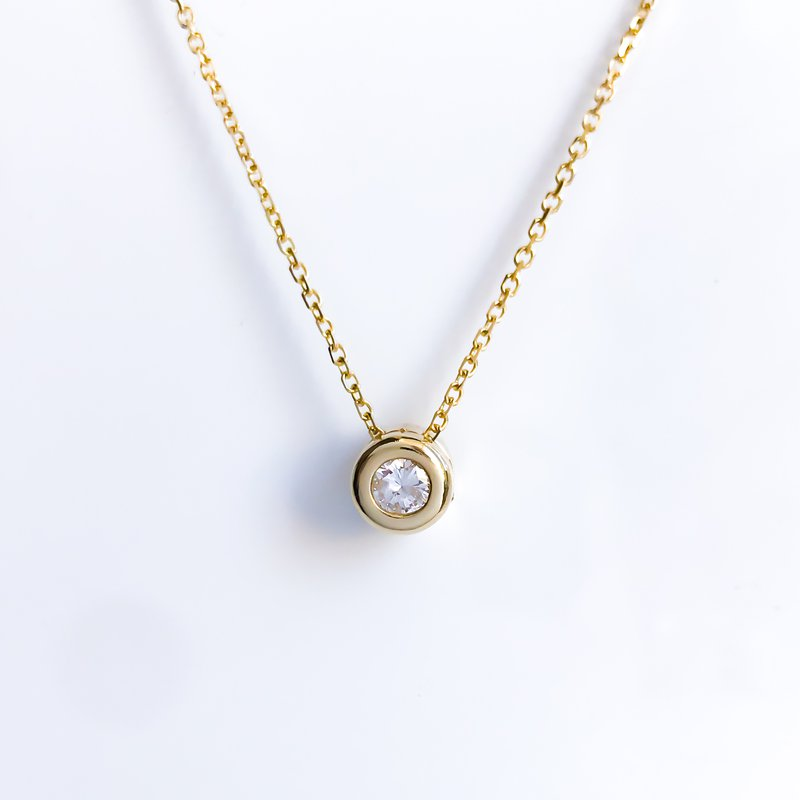 HJ Diamond Collection Yellow Gold Diamond Slider Necklace