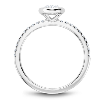 0.50CT Rose Cut Side Stone Solitaire Engagement Ring