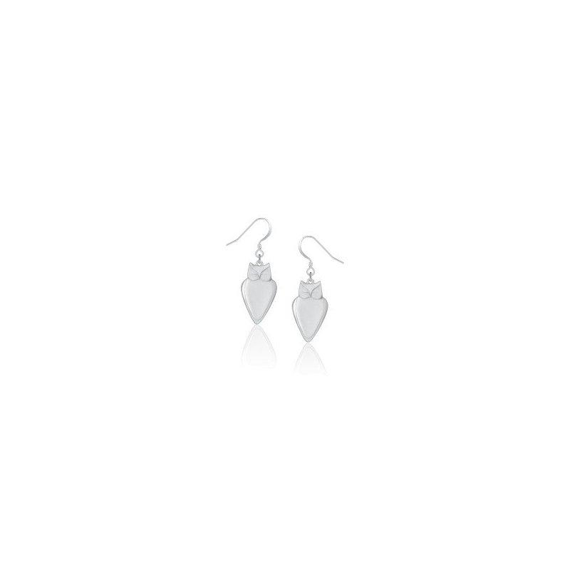 Amos Pewter Owl Earrings