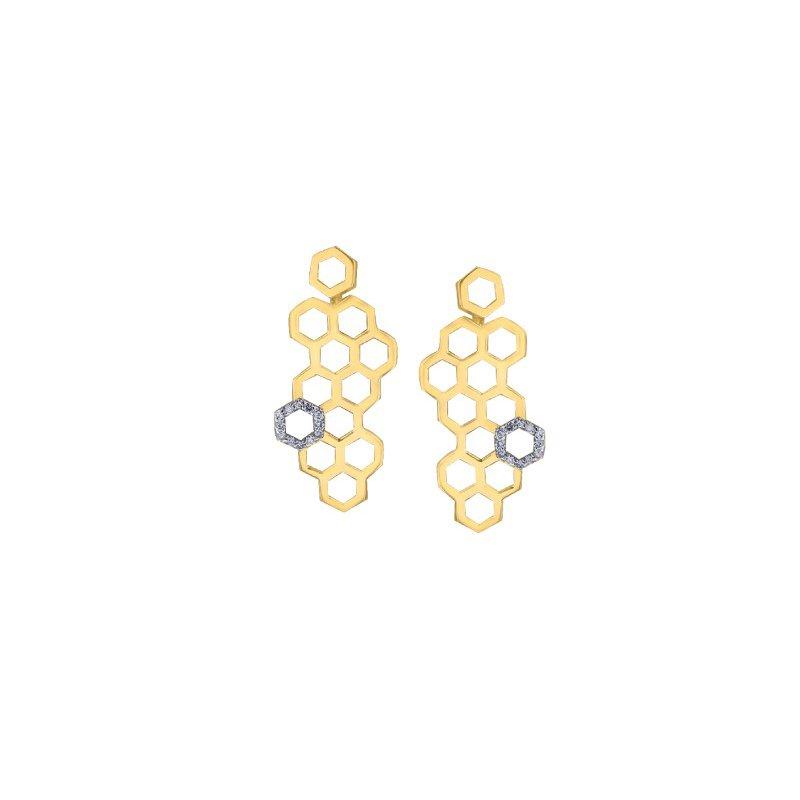 Corona Honeycomb Earrings