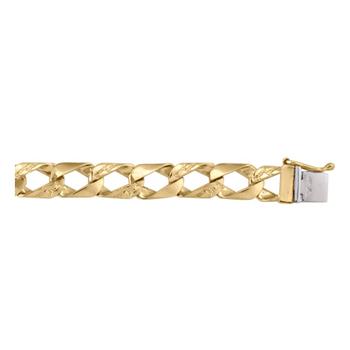 Solid Yellow Gold Fancy Link Bracelet