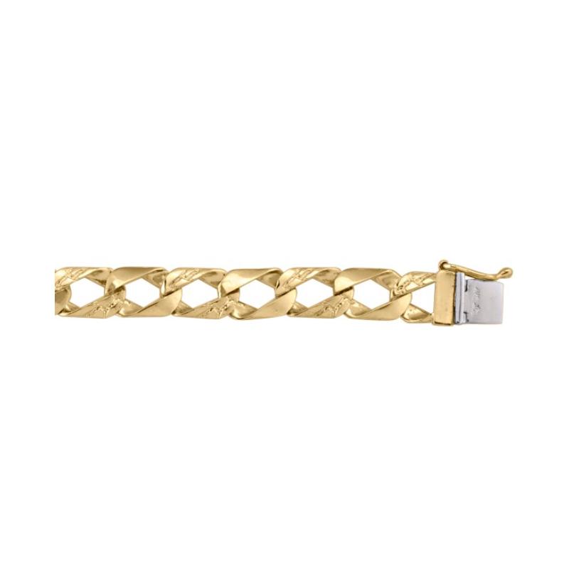 Tecimer & Johns Solid Yellow Gold Fancy Link Bracelet