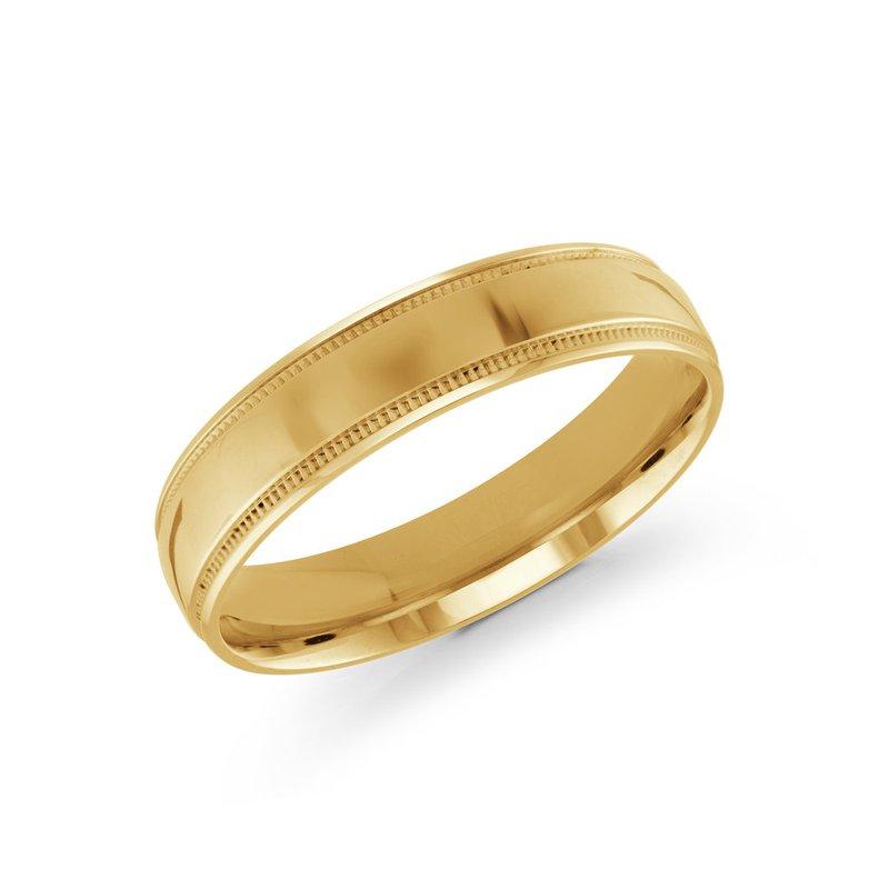 Malo Bands Gold Wedding Band (Milgrain Edges 3mm-8mm)