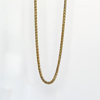 "Yellow Gold Wheat Chain (16"")"