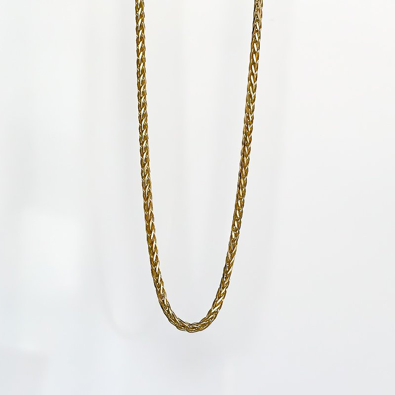 "Tecimer & Johns Yellow Gold Wheat Chain (16"")"