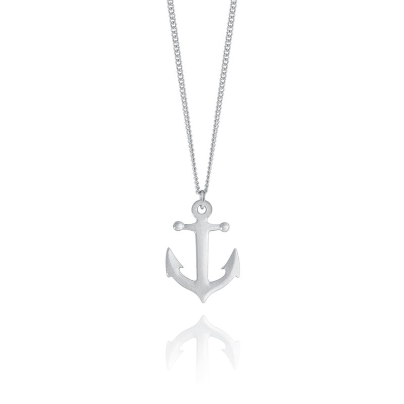 Amos Pewter Anchor Necklace
