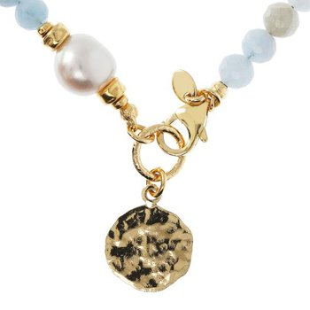 Aqua Quartz & Pearl Necklace
