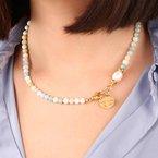 Etrusca Gioielli Aqua Quartz & Pearl Necklace