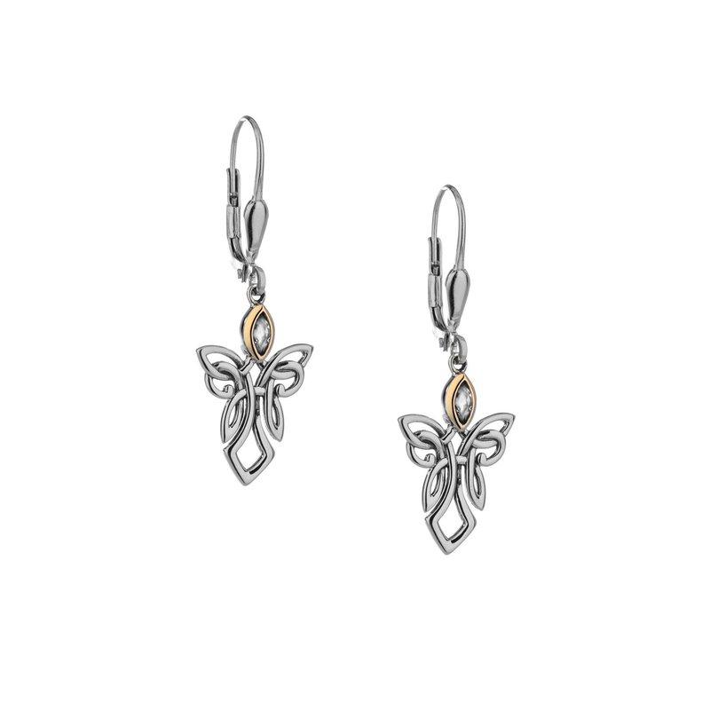 Keith Jack Guardian Angel Earrings (Blue Topaz)