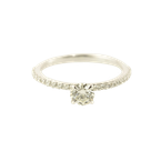 HJ Diamond Collection 0.44CT Side-Stone Solitaire Engagement Ring