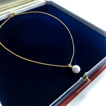 Yellow Gold South Sea Pearl Necklace (9.9mm)