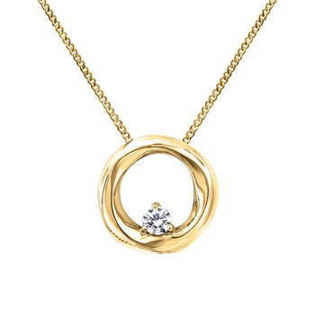 Yellow Gold Canadian Diamond Necklace