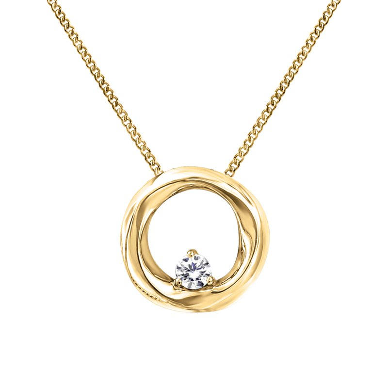 Fire and Ice Yellow Gold Canadian Diamond Necklace