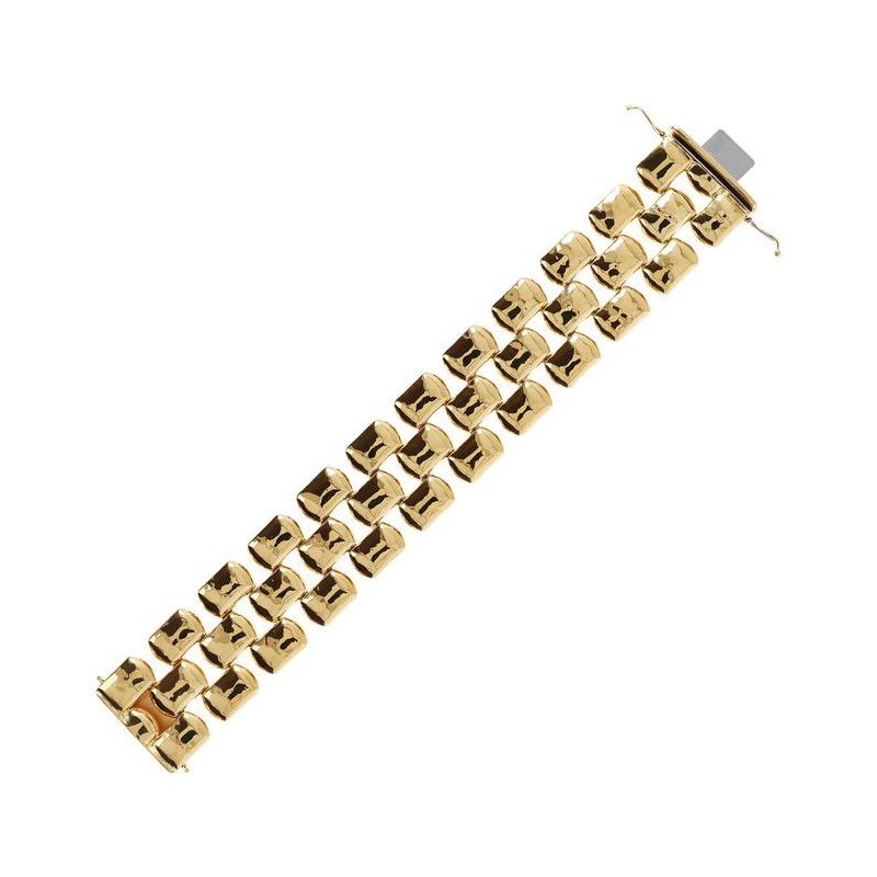 Etrusca Gioielli Wide Hammered Bracelet