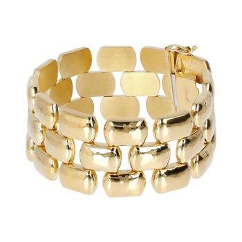 Wide Hammered Bracelet