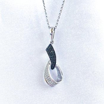 Black & White Pave Diamond Necklace