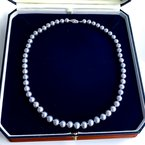 """HJ Pearl Collection Grey Freshwater Pearl Strand (18"""")"""