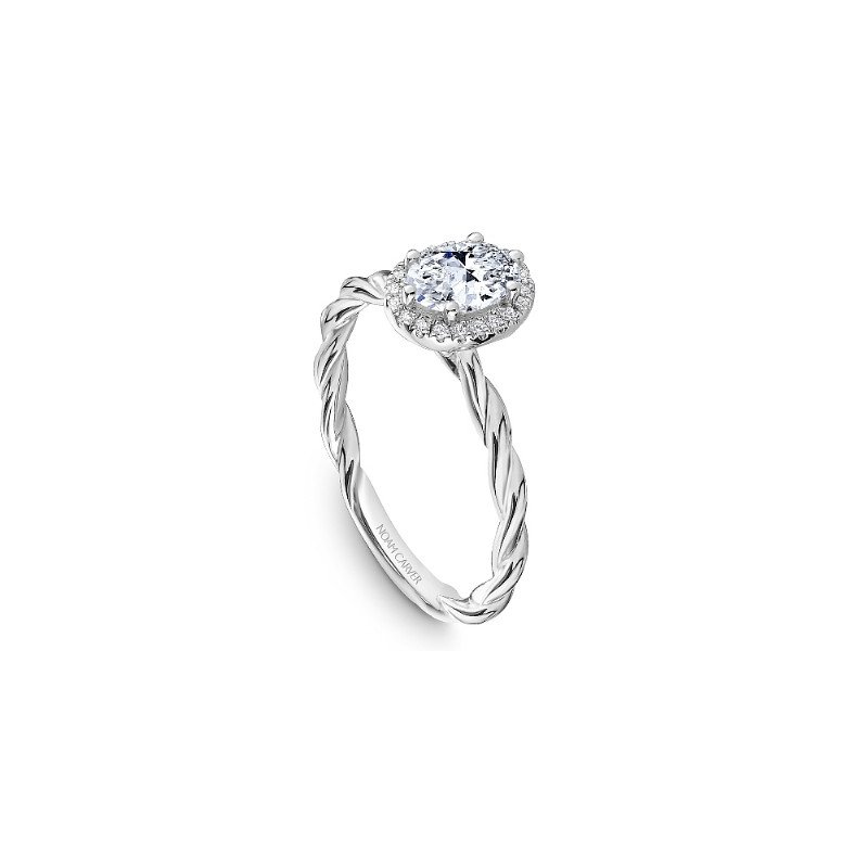 Noam Carver 0.50CT Oval Halo Engagement Ring