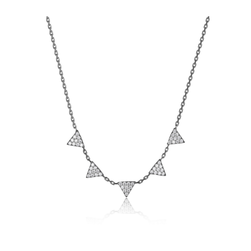 Reign Sterling Silver Geometric Necklace