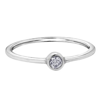 White Topaz Stackable Ring