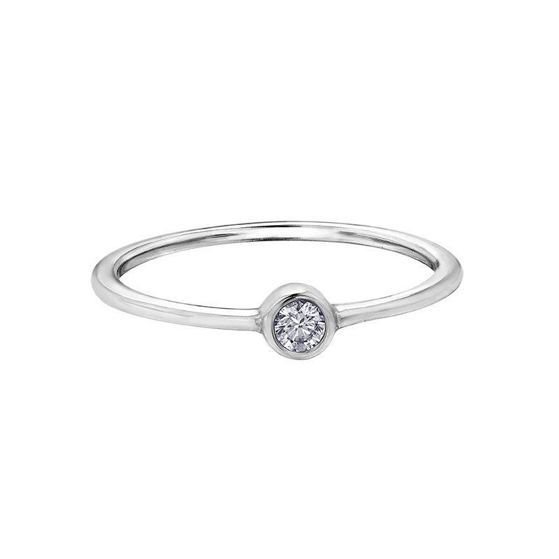 Corona White Topaz Stackable Ring