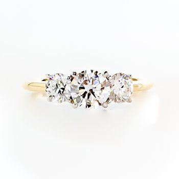 1.06CT TW Three-Stone Lab Grown Diamond Engagement Ring