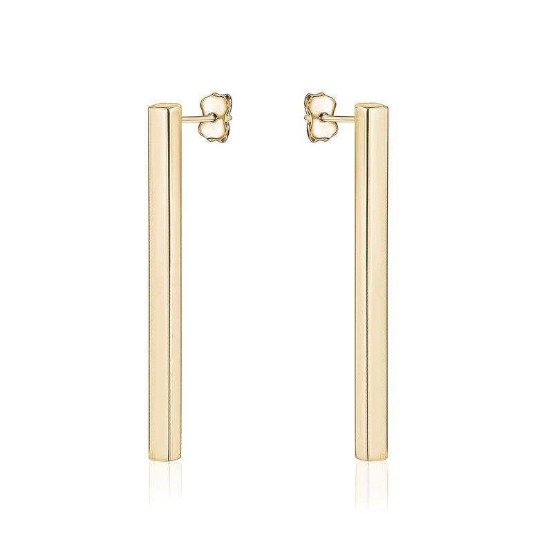 Tecimer & Johns Gold Bar Earrings