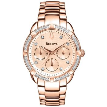 Rose Gold Diamond Dial Watch