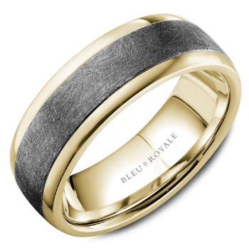 Tantalum & Yellow Gold Wedding Band