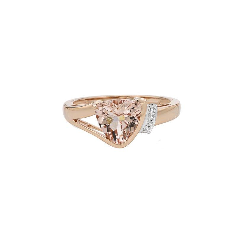 Karat Imports Rose Gold Morganite Ring
