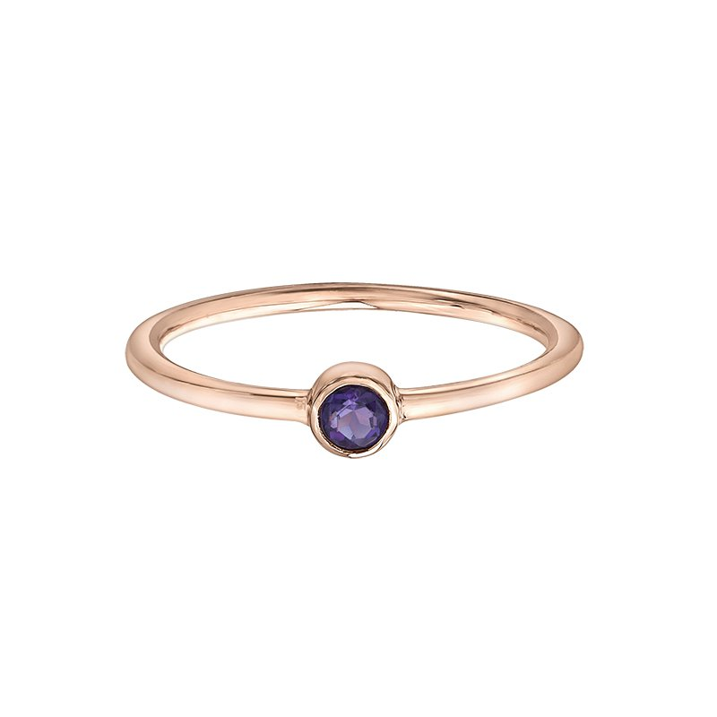 Corona Amethyst Stackable Ring