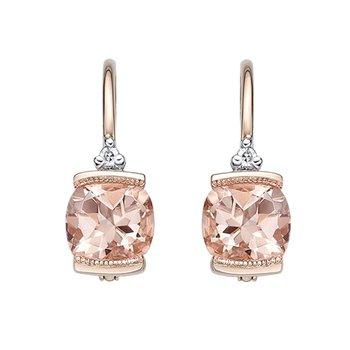 Rose Gold Morganite Drop Earrings