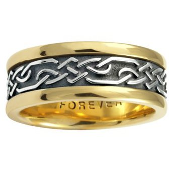 Celtic 'Lattice' Wedding Band