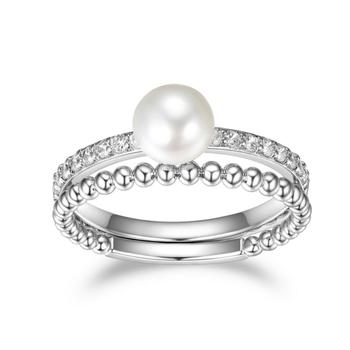Pearl Ring & Bubble Band Set