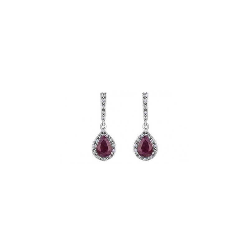 Corona Ruby & Diamond Earrings