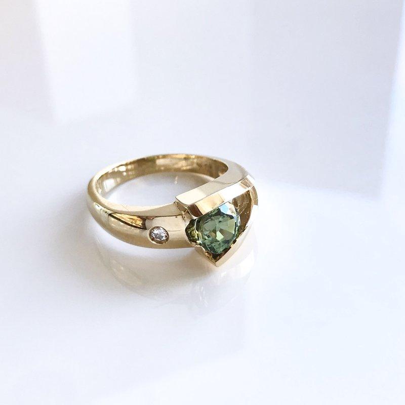 HJ Gemstone Collection Custom Demantoid Garnet Ring