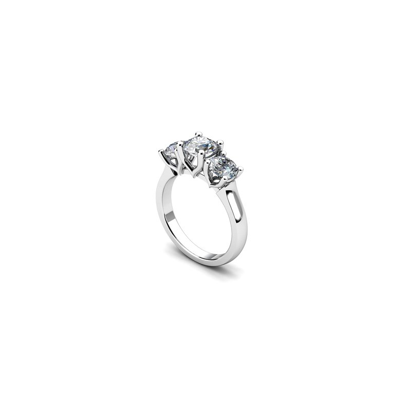 T & T Jewellers Three-Stone Engagement Ring