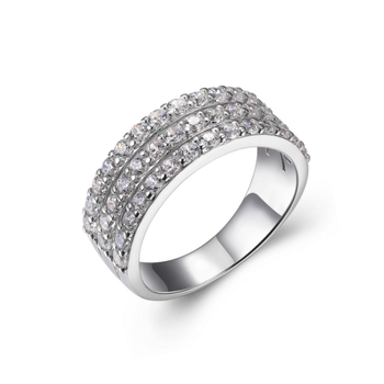 Sterling Silver Pave Ring